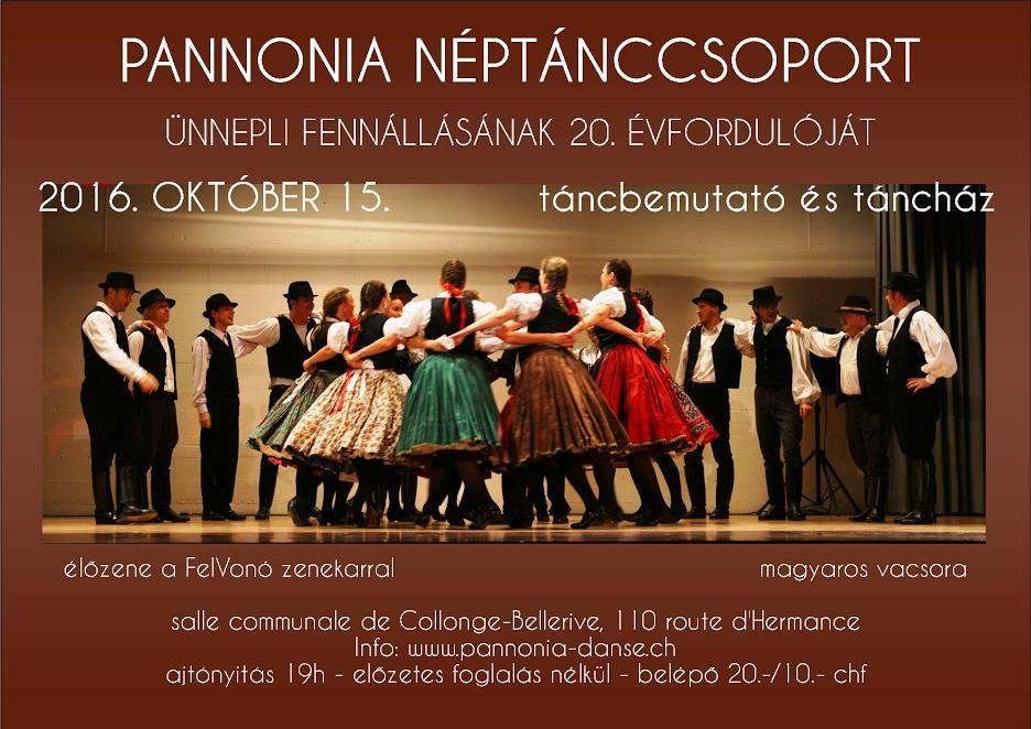 Pannónia Néptáncegyüttes 20. évfordulója – Genf
