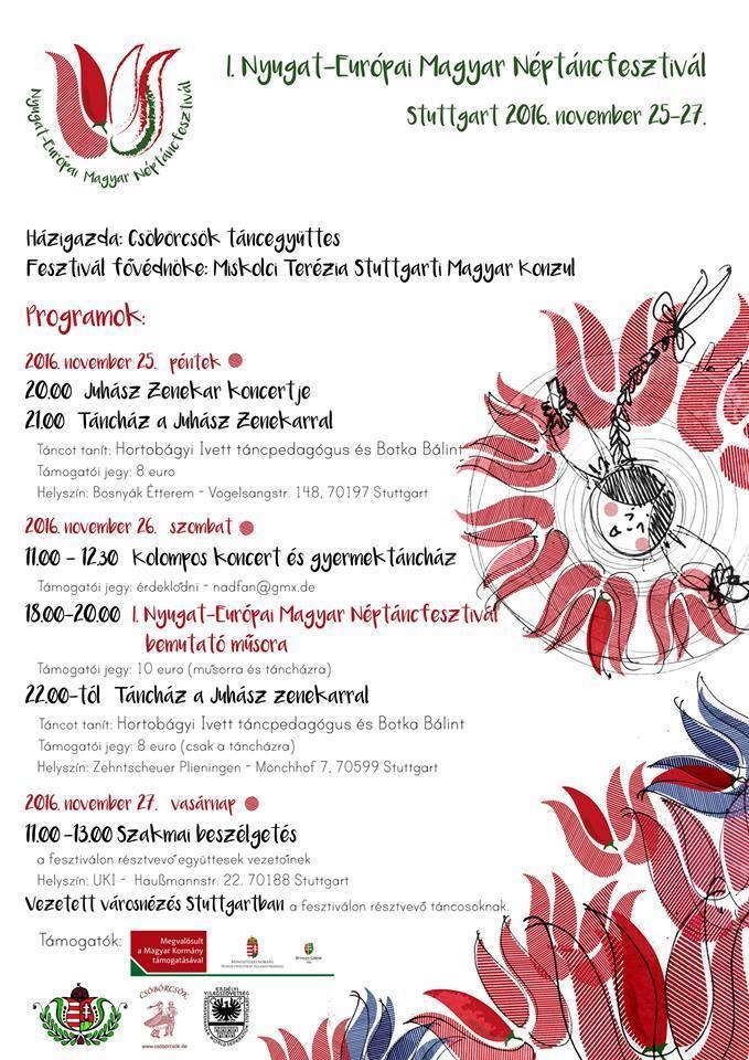 I. Nyugat-Európai Magyar Néptáncfesztivál – Stuttgart